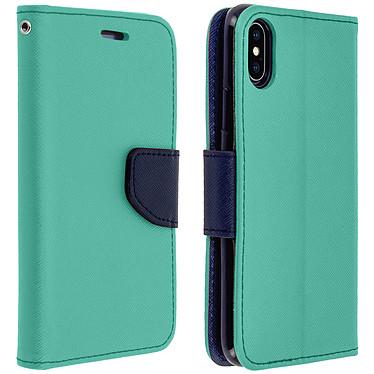 Avizar Etui folio Turquoise pour Apple iPhone X , Apple iPhone XS Etui folio Turquoise Apple iPhone X , Apple iPhone XS