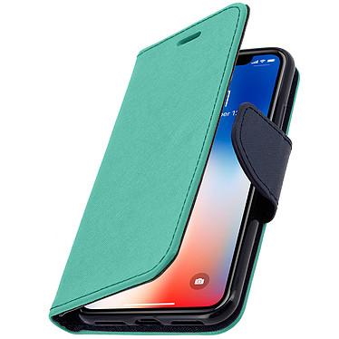 Avizar Etui folio Turquoise pour Apple iPhone X , Apple iPhone XS pas cher