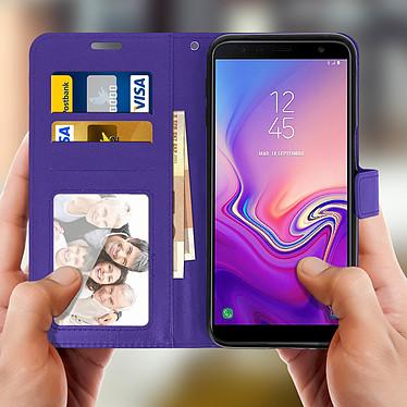 Avis Avizar Etui folio Violet pour Samsung Galaxy J6 Plus