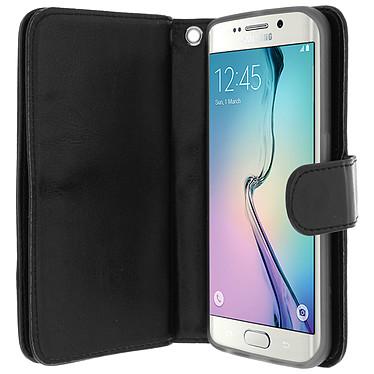 Avizar Etui folio Noir pour Samsung Galaxy S6 Edge pas cher
