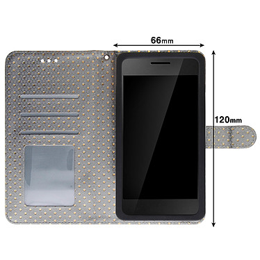 Acheter Avizar Etui folio Argent pour Smartphones de 3.8' à 4.3'