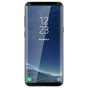 Avizar Film verre trempé Noir pour Samsung Galaxy S8 pas cher