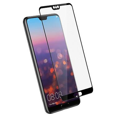 Avizar Film verre trempé Noir pour Huawei P20 pas cher