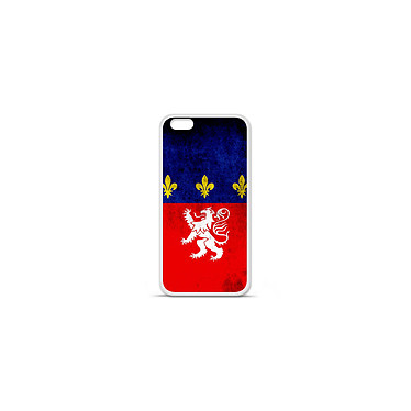 1001 Coques Coque silicone gel Apple IPhone 7 Plus motif Drapeau Lyon Coque silicone gel Apple IPhone 7 Plus motif Drapeau Lyon