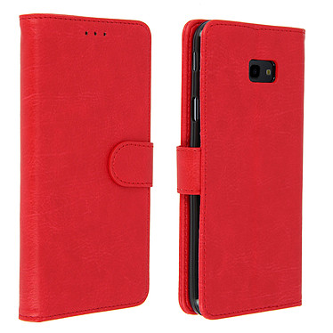 Avizar Etui folio Rouge pour Samsung Galaxy J4 Plus Etui folio Rouge Samsung Galaxy J4 Plus