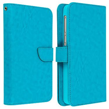 Avizar Etui folio Turquoise pour Smartphones de 5.3' à 5.5' pas cher