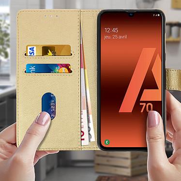 Acheter Avizar Etui folio Dorée pour Samsung Galaxy A70