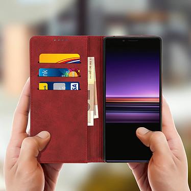 Acheter Avizar Etui folio Rouge Vieilli pour Sony Xperia 1