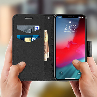 Acheter Avizar Etui folio Noir Support Horizontal pour Apple iPhone XS Max
