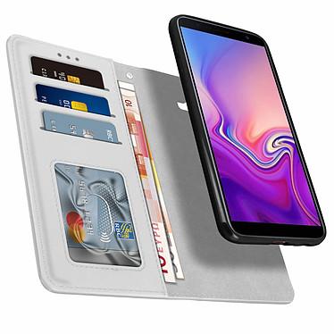 Avizar Etui folio Argent pour Samsung Galaxy J6 Plus pas cher