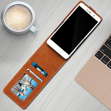 Avis Avizar Etui à clapet Camel pour Compatibles avec Smartphones de 5,3 à 5,5 pouces