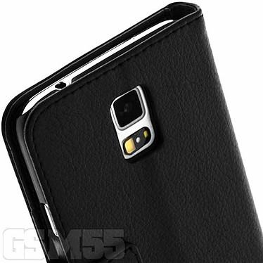 Acheter Avizar Etui folio Noir Portefeuille pour Samsung Galaxy S5 , Samsung Galaxy S5 New
