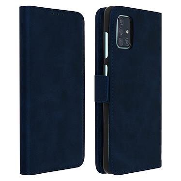 Avizar Etui folio Bleu Nuit pour Samsung Galaxy A71 Etui folio Bleu Nuit Samsung Galaxy A71