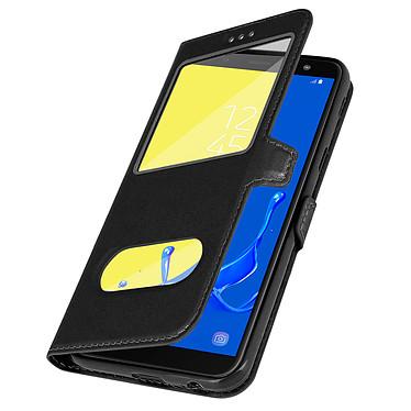 Avizar Etui folio Noir à fenêtre pour Samsung Galaxy J6 pas cher