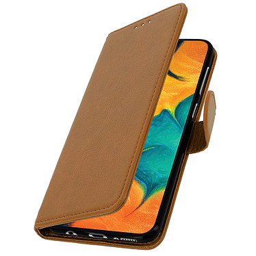 Avizar Etui folio Marron pour Samsung Galaxy A30 pas cher