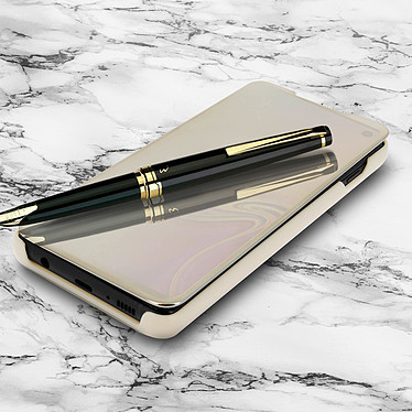 Avizar Etui folio Dorée Design Miroir pour Samsung Galaxy S10 Plus pas cher