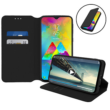 Avizar Etui folio Noir pour Samsung Galaxy M20 pas cher