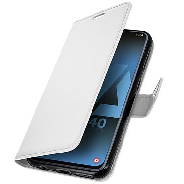 Avizar Etui folio Blanc pour Samsung Galaxy A40 pas cher