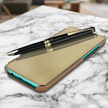 Avizar Etui folio Dorée pour Xiaomi Redmi Note 8 Pro pas cher