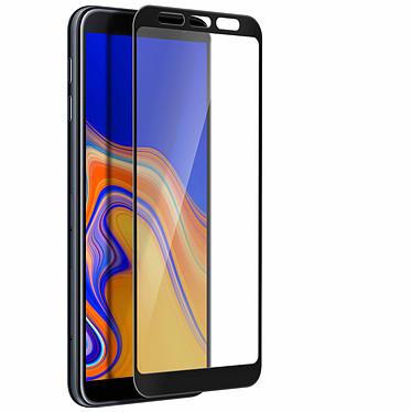 Avizar Film verre trempé Noir pour Samsung Galaxy J4 Plus pas cher