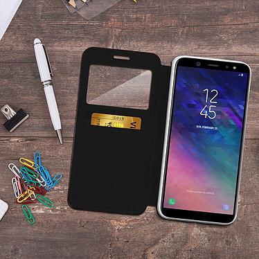 Acheter Avizar Etui folio Noir à fenêtre pour Samsung Galaxy A6