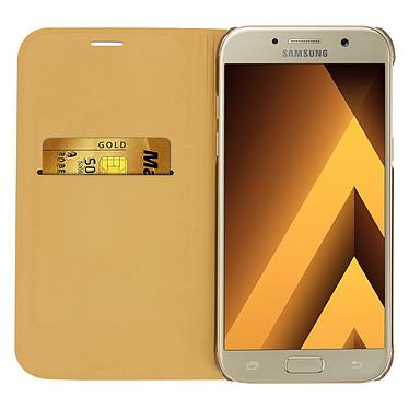 Acheter Avizar Etui folio Dorée Éco-cuir pour Samsung Galaxy A5 2017