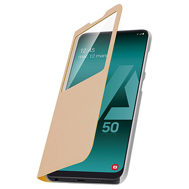 Avizar Etui folio Dorée pour Samsung Galaxy A50 , Samsung Galaxy A30s pas cher