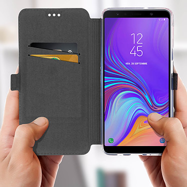 Acheter Avizar Etui folio Bleu Nuit Éco-cuir pour Samsung Galaxy A7 2018