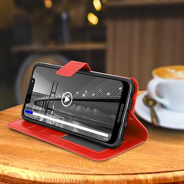 Avis Avizar Etui folio Rouge pour Motorola Moto G7 , Motorola Moto G7 Plus