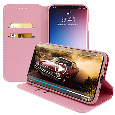 Avizar Etui folio Rose Champagne Portefeuille pour Apple iPhone 11 Pro pas cher