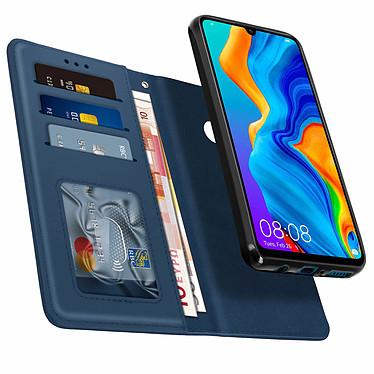Avizar Etui folio Bleu Nuit pour Huawei P30 Lite , Honor 20S , Huawei P30 Lite XL pas cher