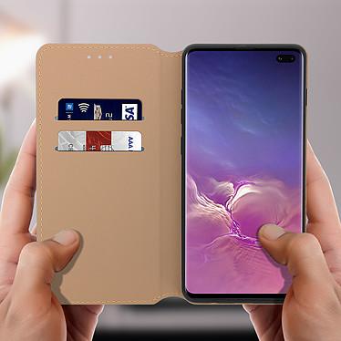 Acheter Avizar Etui folio Dorée Éco-cuir pour Samsung Galaxy S10 Plus