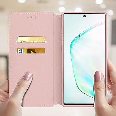 Acheter Avizar Etui folio Rose Champagne Portefeuille pour Samsung Galaxy Note 10 Plus