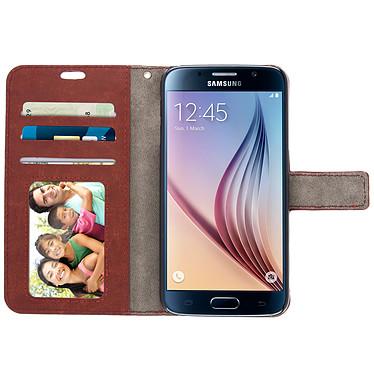 Acheter Avizar Etui folio Marron pour Samsung Galaxy S6