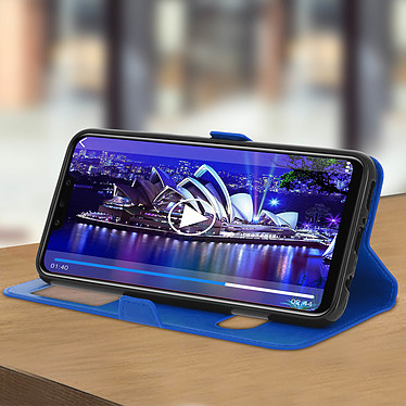 Avis Avizar Etui folio Bleu Éco-cuir pour Huawei Mate 20 lite