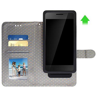 Avis Avizar Etui folio Argent pour Smartphones de 3.8' à 4.3'