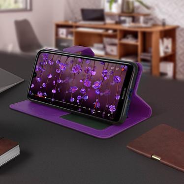 Avis Avizar Etui folio Violet pour Huawei Y7 2019
