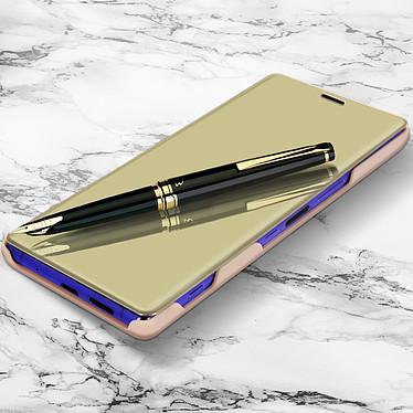 Avizar Etui folio Dorée Design Miroir pour Sony Xperia 1 pas cher