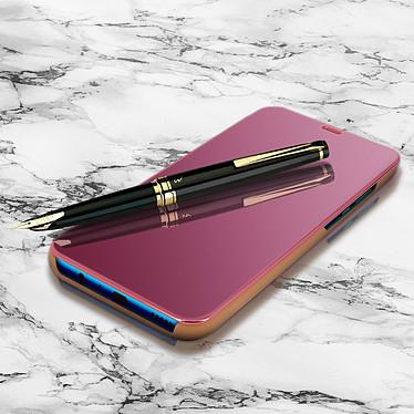 Avizar Etui folio Rose Champagne pour Huawei P Smart 2019 , Honor 10 Lite pas cher