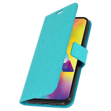 Avizar Etui folio Turquoise pour Samsung Galaxy M20 pas cher