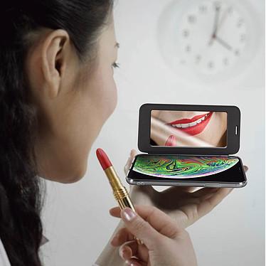Acheter Avizar Etui folio Noir Miroir pour Apple iPhone XS Max