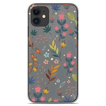 1001 Coques Coque silicone gel Apple iPhone 11 motif Fleurs colorées Coque silicone gel Apple iPhone 11 motif Fleurs colorées