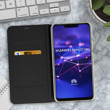 Acheter Avizar Etui folio Noir Éco-cuir pour Huawei Mate 20 Lite