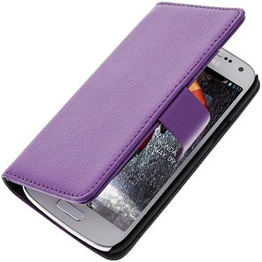 Avizar Etui folio Violet pour Samsung Galaxy S4 Mini Etui folio Violet Samsung Galaxy S4 Mini