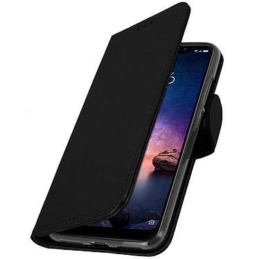 Avizar Etui folio Noir Portefeuille pour Xiaomi Redmi Note 6 Pro pas cher