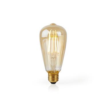 Nedis Ampoule connectée LED Wi-Fi E27 ST64 5 W 500 lm pas cher