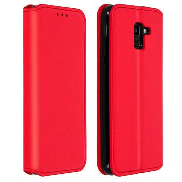 Avizar Etui folio Rouge pour Samsung Galaxy J6 pas cher