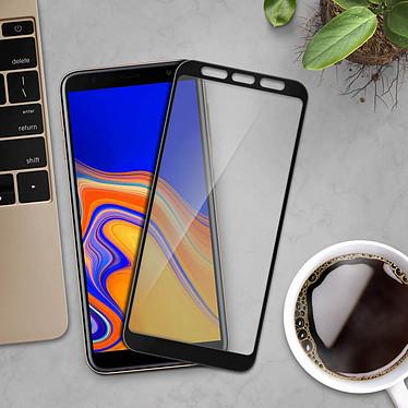 Avis Avizar Film verre trempé Noir pour Samsung Galaxy J4 Plus