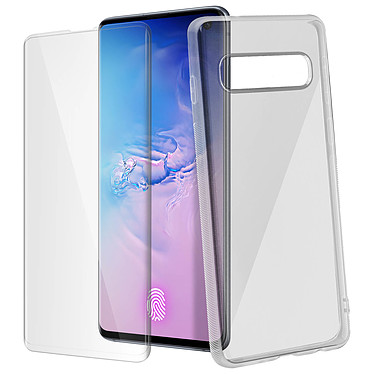 Avizar Pack protection Transparent pour Samsung Galaxy S10 pas cher