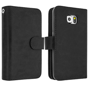 Avizar Etui folio Noir pour Samsung Galaxy S6 Edge Etui folio Noir Samsung Galaxy S6 Edge